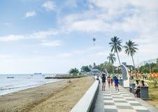 Spiaggia di Dili nel Timor Est Immagini Stock