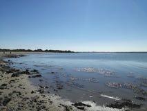 Passeggiata della spiaggia di Rosslare a Wexford Immagine Stock