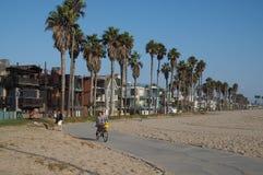 Passeggiata della spiaggia di Venezia immagini stock libere da diritti