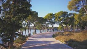 Passeggiata della spiaggia sul mare adriatico Fotografia Stock