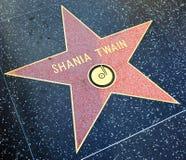 Passeggiata della stella di fama di Shania Twain Immagini Stock