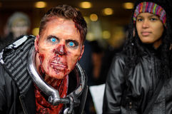 Passeggiata dello zombie Fotografie Stock Libere da Diritti