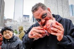 Passeggiata dello zombie Fotografia Stock Libera da Diritti