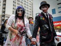 Passeggiata dello zombie Fotografie Stock