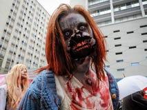 Passeggiata dello zombie Fotografia Stock