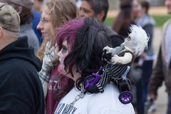 Passeggiata 2016 dello zombie del New Jersey Fotografia Stock