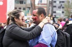 Passeggiata dello zombie di Montreal Fotografia Stock Libera da Diritti