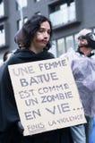 Passeggiata dello zombie di Montreal Fotografie Stock