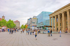 Passeggiata di acquisto Konigstrasse, Stuttgart Fotografie Stock