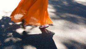 Passeggiata di estate con le ombre Fotografia Stock