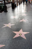 Passeggiata di fama di Hollywood Fotografie Stock