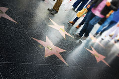 Passeggiata di fama, Hollywood Fotografia Stock Libera da Diritti