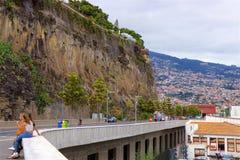 Passeggiata di Funchal, Madera fotografie stock