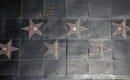 Passeggiata di Hollywood di fama Fotografia Stock