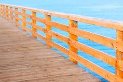 Passeggiata di legno del Mar Baltico del pilastro Immagini Stock Libere da Diritti