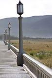 Passeggiata di mattina del sentiero costiero Immagine Stock
