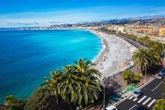 Passeggiata di Nizza, Francia dell'orizzonte Immagini Stock