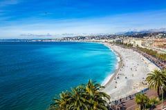 Passeggiata di Nizza, Francia dell'orizzonte Immagini Stock Libere da Diritti