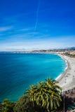 Passeggiata di Nizza, Francia dell'orizzonte Fotografia Stock Libera da Diritti
