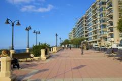 Passeggiata di Slema a Malta immagine stock