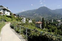Passeggiata di Tappeiner di Merano Fotografia Stock