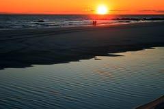 Passeggiata di tramonto Fotografia Stock