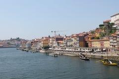 Passeggiata di Waterside a Oporto, Portogallo Fotografia Stock