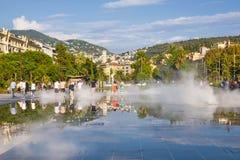 Passeggiata du Paillon in Nizza, Francia Fotografia Stock Libera da Diritti