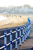 Passeggiata e spiaggia in Weymouth, Dorset, Inghilterra Fotografia Stock Libera da Diritti
