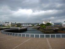 Passeggiata ed acquario del porto di traghetto di Kagoshima Fotografia Stock