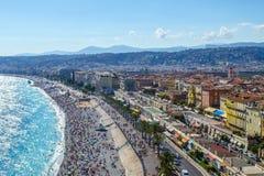 Passeggiata in Nizza francese Fotografia Stock Libera da Diritti