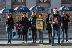 Passeggiata per l'evento internazionale annuale di libertà Fotografia Stock Libera da Diritti