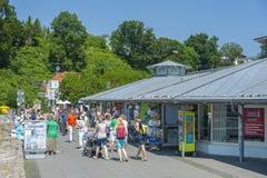 Passeggiata in Sassnitz fotografia stock