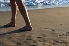 Passeggiata in spiaggia Fotografia Stock Libera da Diritti