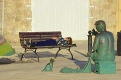 Passeggiata in st Julians, Malta fotografie stock