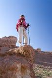 Passeggiata su un canyon Immagine Stock Libera da Diritti