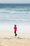 Passeggiata sulla sabbia Immagini Stock