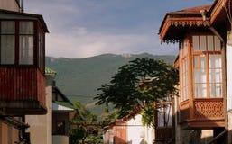 Passeggiate nella città di Jalta immagini stock libere da diritti