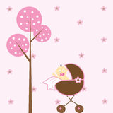 Passeggiatore della neonata Immagine Stock