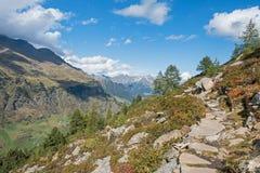Passeier dolina, Włoscy Alps, Sooth Tyrol blisko górskiej wioski Pfelders, zdjęcia royalty free