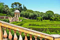 passeig Испания лабиринта Каталонии de horta castanyers barcelona Стоковая Фотография