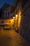 Passeig Dalt Murada street in Palma de Mallorca at night. Passeig Dalt Murada street in Palma de Mallorca, Spain. The Old City (in the south-east area of Palma Royalty Free Stock Photo