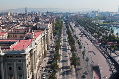 Passeig de Colom Barcelona Spain Stock Photos