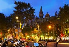 Passeig de Gracia в Барселоне Стоковое Изображение RF