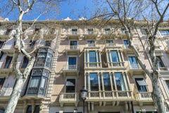 Passeig de Gracia, Barcelona Royalty Free Stock Photos