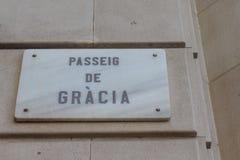 Passeig de gracia, Barcelona, Spain Royalty Free Stock Image