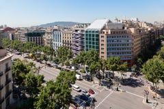 Passeig DE Gracia Barcelona Spanje Stock Fotografie