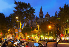 Passeig de Gracia en Barcelona Imagen de archivo libre de regalías
