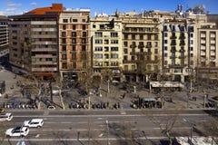 Passeig de Gracia street in Barcelona, Spain Stock Photography