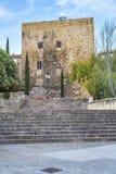 Passeig de Sant Antoni and Torre de Pilats, in Tarragona, Spain Stock Photos